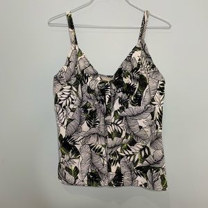 Swimsuits For All Tropical Leaf Tankini Swim 22